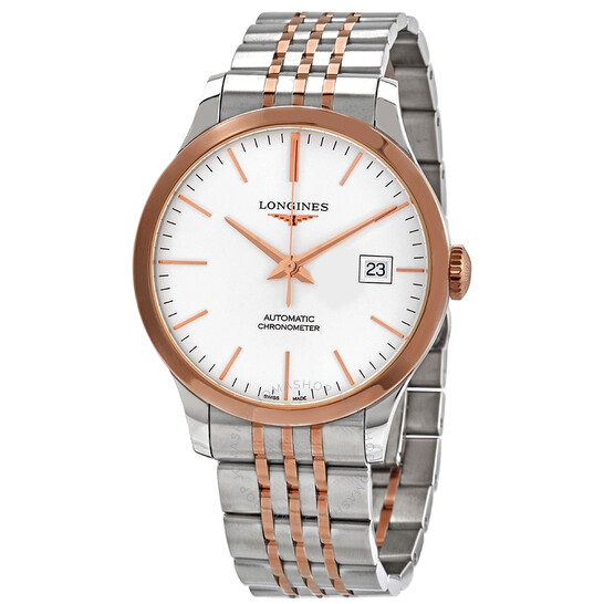 Longines Record Automatic Chronometer Silver Dial Men's Watch L28205727 | Joma Shop