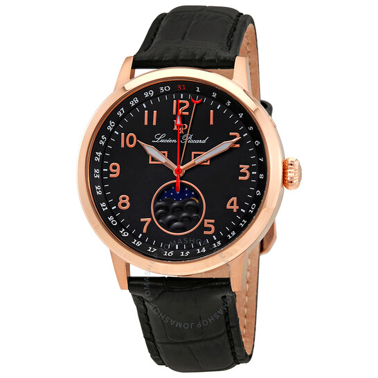 Lucien Piccard Complete Calendar Black Dial Men's Watch 40016-RG-01 | Joma Shop