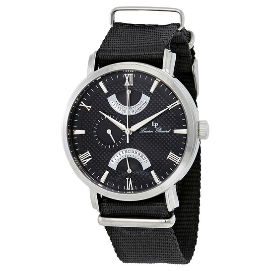 Lucien Piccard Black Dial Dual Time Men's Watch 10340-01-NS   Joma Shop
