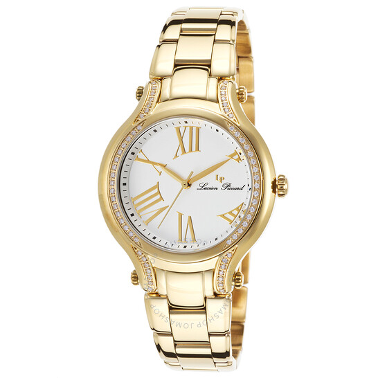 Lucien Piccard Elisia White Dial Ladies Watch 16353-YG-22 | Joma Shop