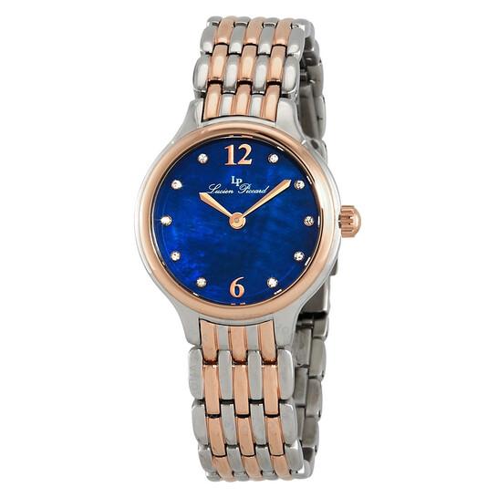 Lucien Piccard Lauren Blue Dial Ladies Watch LP-28021-SR-33MOP | Joma Shop