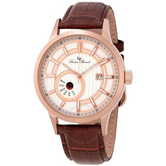 Lucien Piccard Epson Silver Dial Men's Watch 40063-RG-02S-BRW | Joma Shop