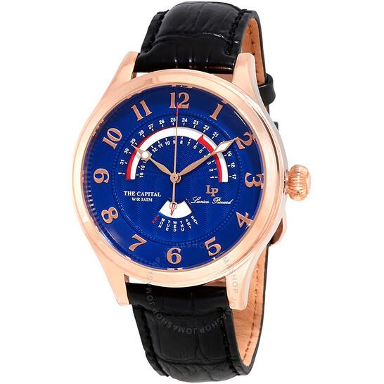 Lucien Piccard The Capital Retrograde Men's Watch LP-40050-RG-03   Joma Shop