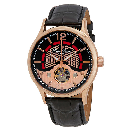 Lucien Piccard Transway Open Heart Automatic Men's Watch LP-15038-RG-01   Joma Shop