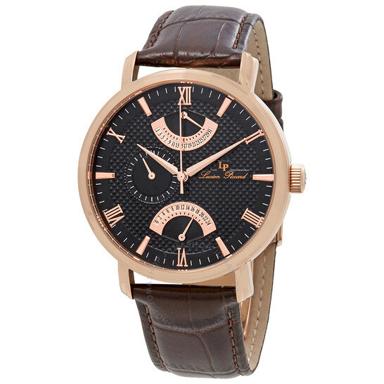 Lucien Piccard Verona GMT Retrograde Men's Watch 10340-rg-01-brw | Joma Shop