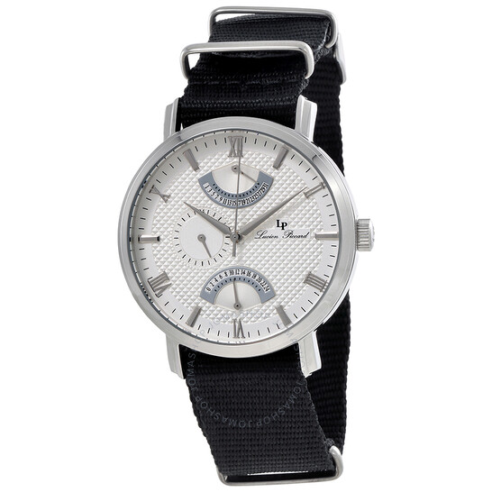 Lucien Piccard Verona Silver Dial Dual Time Men's Watch 10340-02S-NS   Joma Shop