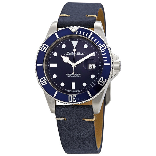 Mathey-Tissot Mathey Vintage Quartz Blue Dial Men's Watch H9010ALBU | Joma Shop