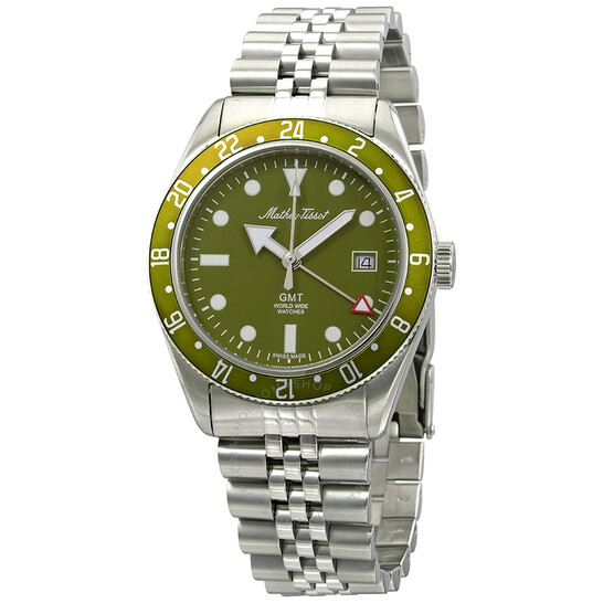 Mathey-Tissot Mathey Vintage GMT Quartz Green Dial Men's Watch H902AV   Joma Shop
