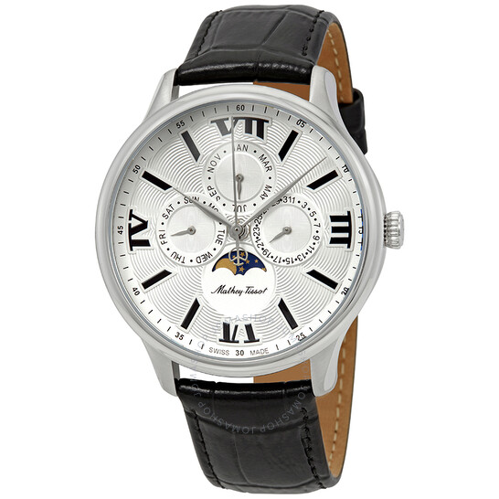 Mathey-Tissot Edmond Moon Phase Silver Dial Men's Watch