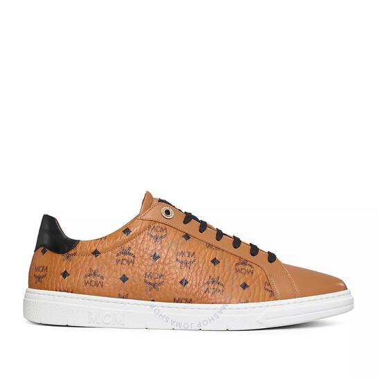 Mcm Ladies Cognac New Court Sneakers, Brand Size 35 ( US Size 5 )   Joma Shop