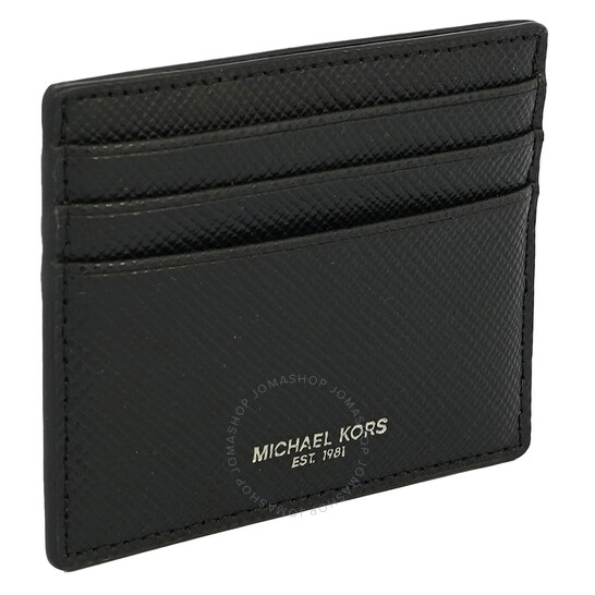 Michael Kors Black Mens Card Case Wallet Money Clip
