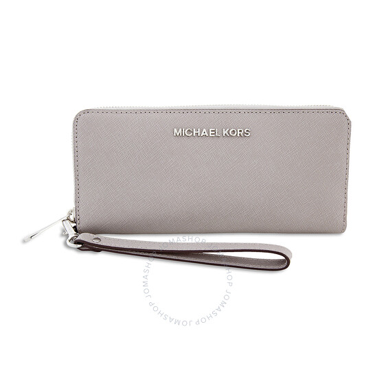 Michael Kors Jet Set Travel Saffiano Continental Wallet - Pearl Grey | Joma Shop