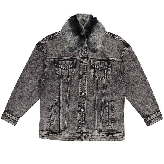 Michael Kors Ladies Acid-Wash Denim Jacket
