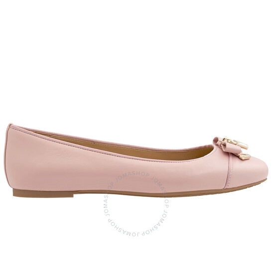 Michael Kors Ladies Alice Leather Ballet Flats