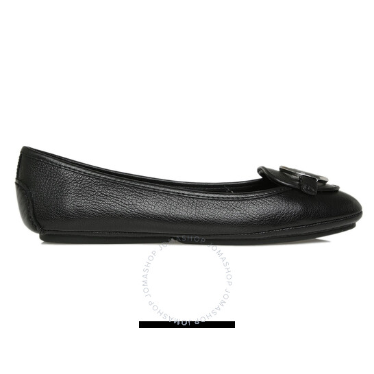 Michael Kors Ladies Black Lillie Leather Moccasin