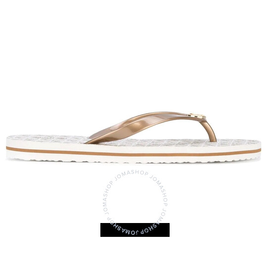 Michael Kors Ladies Branded Logo Flip Flops