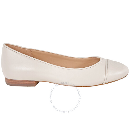 Michael Kors Ladies Dylyn Leather Logo Ballet Flats