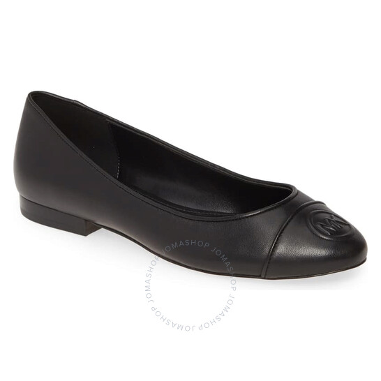Michael Kors Ladies Dylyn Logo Leather Ballet Flats