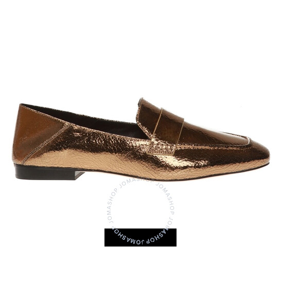 Michael Kors Ladies Emory Leather Flats in Gold
