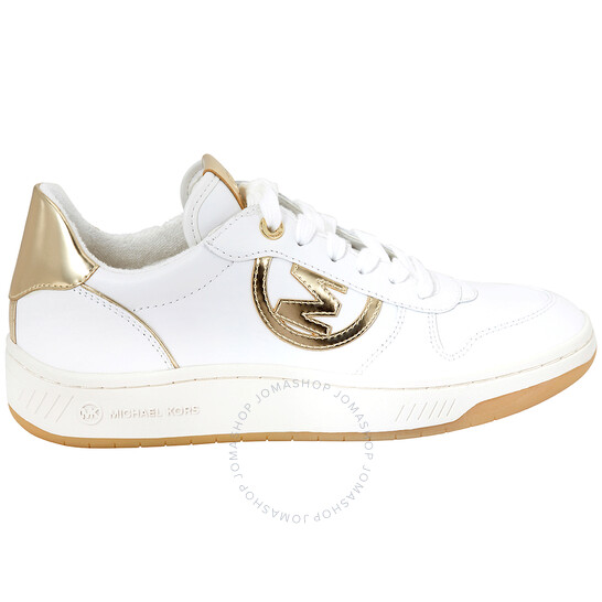 Michael Kors Ladies Gertie Leather Lace-up Sneakers