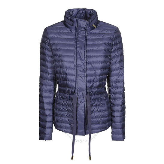Michael Kors Ladies Packable Nylon Puffer Jacket in Navy