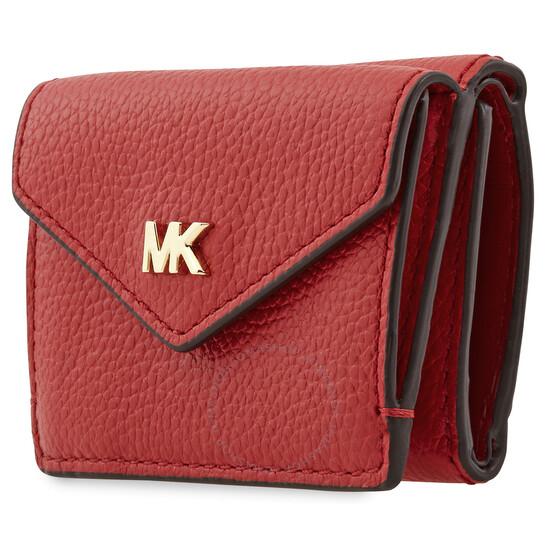 Michael Kors Ladies Small Peeble Leather Tri-Fold Flap Wallet