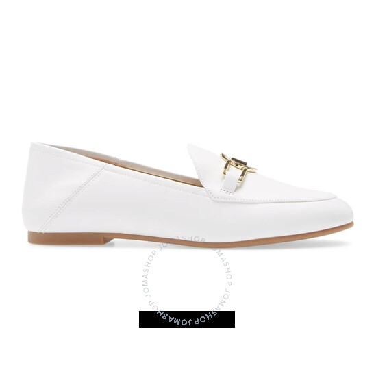 Michael Kors Ladies Tracee Logo Plaque Loafers in White