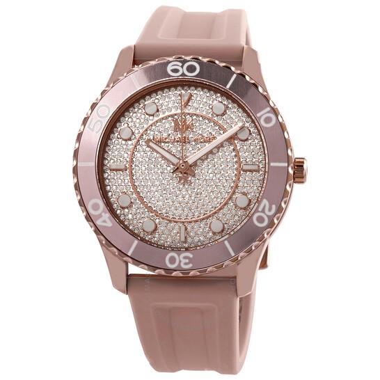 Michael Kors Runway Quartz Rose Crystal Dial Ladies Watch MK6854 | Joma Shop