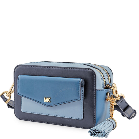 Michael Kors Small Tri-Color Leather Camera Bag- Admiral/Multi