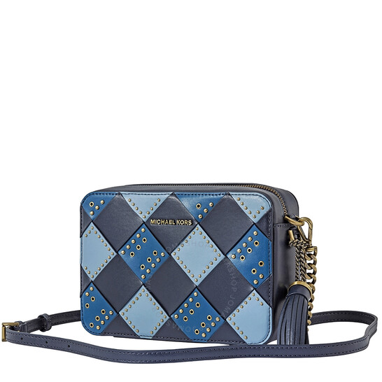 Michael Kors Zip Top Camera Cross-Body Bag- Admiral/Multi