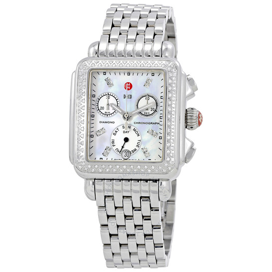 Michele Deco Day Mother of Pearl Dial Diamond Ladies Watch MWW06P000099   Joma Shop