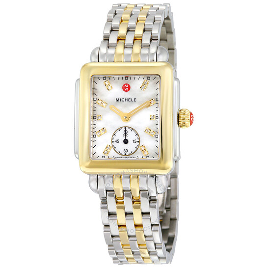 Michele Deco Mother of Pearl Dial Two-tone Ladies Watch MWW06V000042 | Joma Shop
