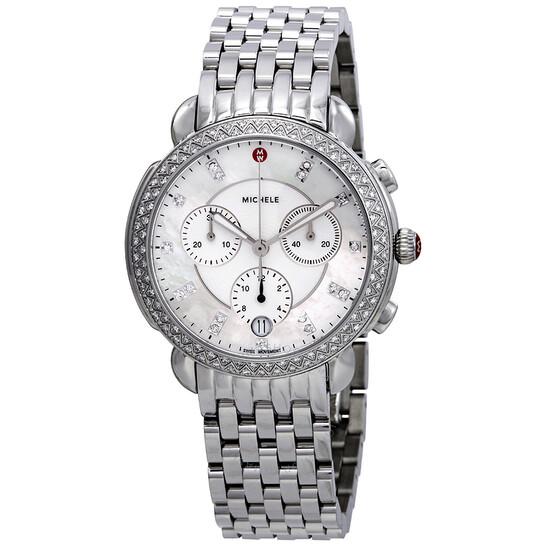 Michele Sidney Chronograph Diamond Ladies Watch MWW30A000001 | Joma Shop