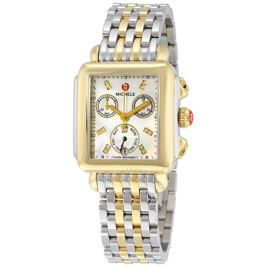 Michele Signature Deco Mother of Pearl Dial Ladies Watch MWW06P0001   Joma Shop
