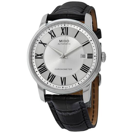 Mido Baroncelli Chronometer Automatic Silver Dial Men's Watch