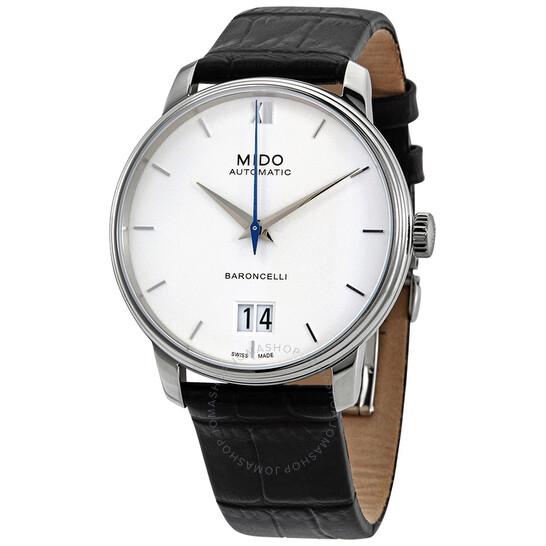 mido-baroncelli-iii-automatic-white-dial