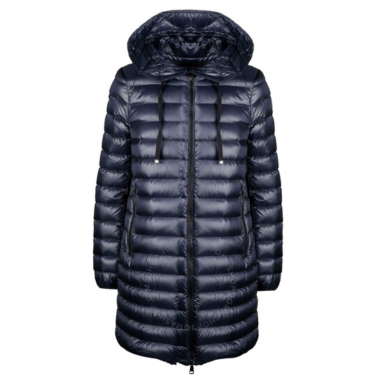 Moncler Ladies Navy Blue Quilted Coat, Brand Size 0   Joma Shop