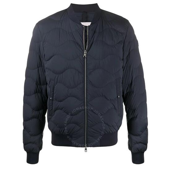 Moncler Men's Bomber Jacket in Blue, Brand Size 2   Joma Shop