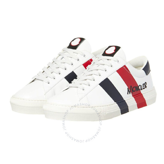 Moncler Men's Off White Montpellier Low Top Sneakers, Brand Size 40 (US Size 7)   Joma Shop