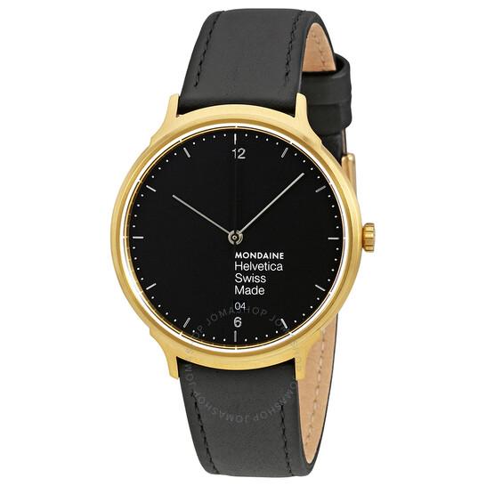 Mondaine Helvetica No1 Light Black Dial Men's Watch MH1.L2221.LB   Joma Shop
