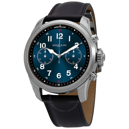 Montblanc Analog-Digital Blue Dial Men's Smart Watch