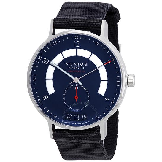 Nomos Autobahn Neomatik Automatic Midnight Blue Dial Men's Watch 1302   Joma Shop