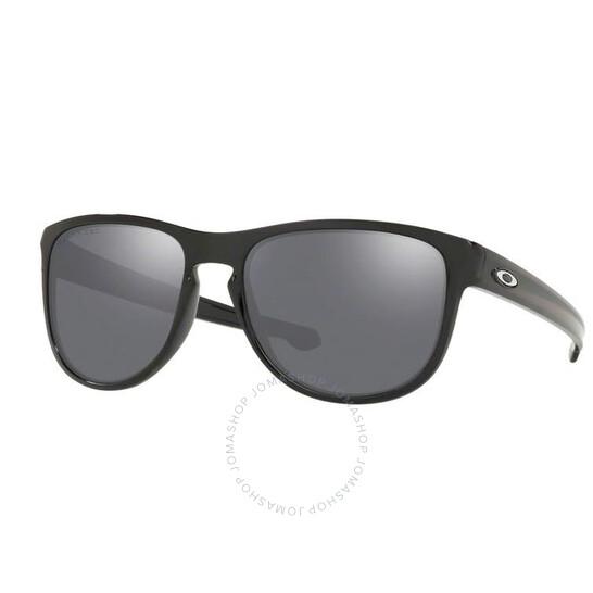 Oakley Sliver Round Black Irdium Polarized Men's Sunglasses