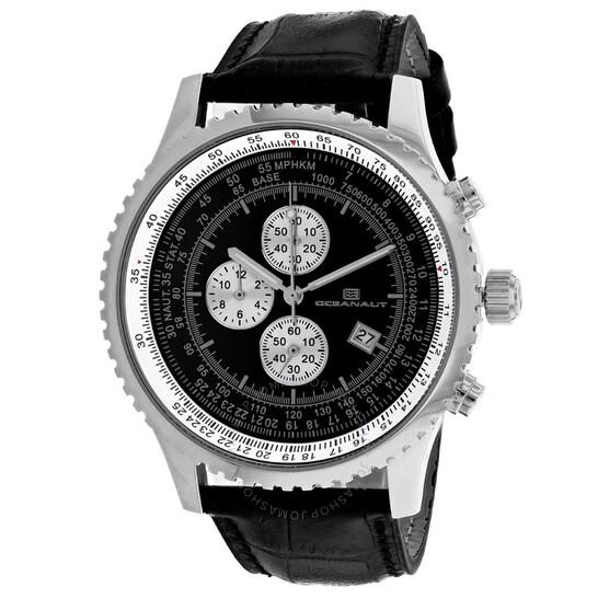 Oceanaut Actuator Chronograph Quartz Black Dial Men's Watch OC0311   Joma Shop