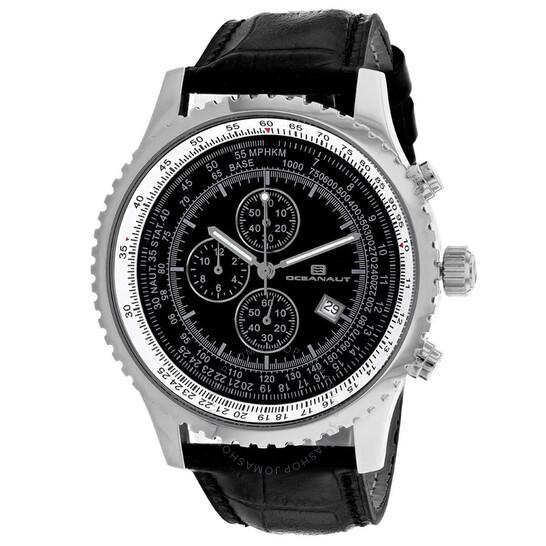 Oceanaut Actuator Chronograph Quartz Black Dial Men's Watch OC0312   Joma Shop