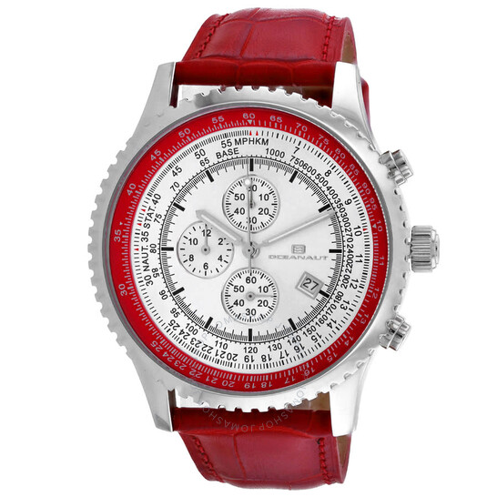 Oceanaut Actuator Chronograph Quartz Silver Dial Men's Watch OC0313   Joma Shop
