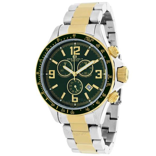 Oceanaut Baltica Chronograph Quartz Green Dial Men's Watch OC3333 | Joma Shop