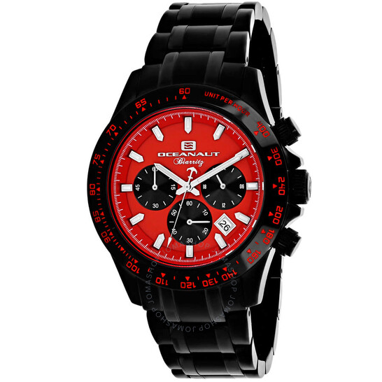 Oceanaut Biarritz Chronograph Quartz Red Dial Men's Watch OC6115 | Joma Shop