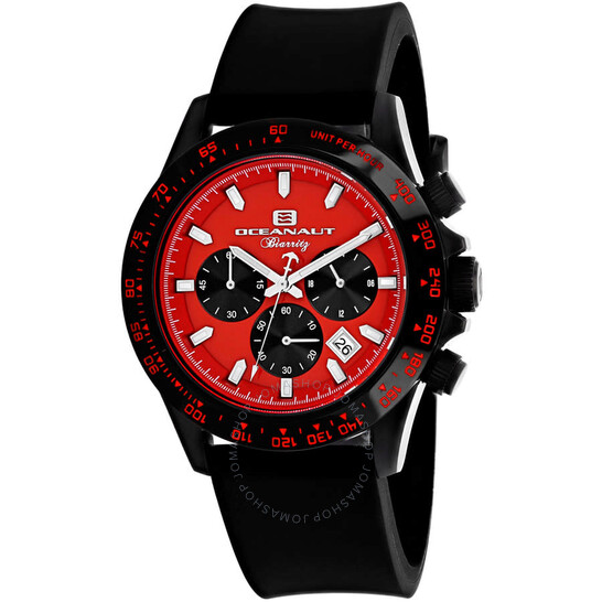 Oceanaut Biarritz Chronograph Quartz Red Dial Men's Watch OC6115R   Joma Shop