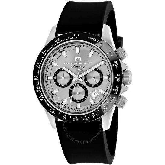 Oceanaut Biarritz Chronograph Quartz Silver Dial Men's Watch OC6110R   Joma Shop